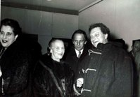 Ele DArtagnan with Carlo Levi and the Argentine painter Lady Mariette in Rome