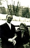 With Rita Giannuzzi (television personality) in Rome 1957